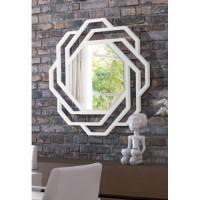 Dekoratif Ayna sekizgen beyaz