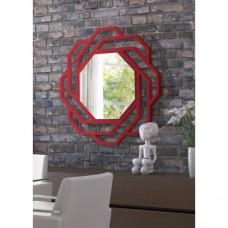Dekoratif Ayna sekizgen kırmızı
