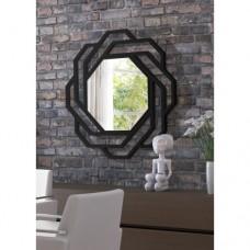 Dekoratif Ayna sekizgen siyah