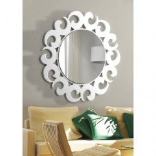 Dekoratif Ayna hilal beyaz