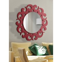 Dekoratif Ayna hilal kırmızı