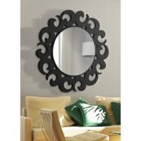 Dekoratif Ayna hilal siyah