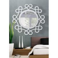 Dekoratif Ayna kalpli beyaz