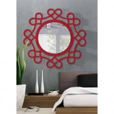 Dekoratif Ayna kalpli kırmızı
