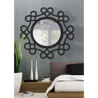 Dekoratif Ayna kalpli siyah
