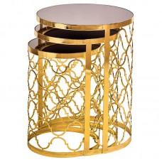 Otantik altın metal zigon sehpa
